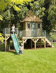 Children's Outdoor Playhouse--this website has great ideas for playhouses...maybe I can get my husband to design and build one for our kiddos someday