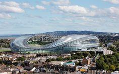 Download wallpapers Aviva Stadium, Rugby stadium, Dublin, Ireland, football stadium