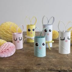 DIY - Paper rabbits for Easter by Sostrene Grene. Click at the picture for tutorial. Creative Kids, Creative Crafts, Diy And Crafts, Diy For Kids, Crafts For Kids, Papier Diy, Diy Bebe, Easter Activities, Weekend Projects