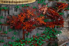 Hadrian's tree, Lego model of Rivendell, by Alice Finch. Via Flickr.