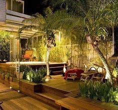 Quase um living ao ar livre... Já pensou numa noite de céu estrelado? ⭐️✨ {Paisagismo: Alex Hanazaki}
