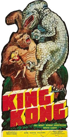 A promotional jigsaw puzzle for King Kong (1933).