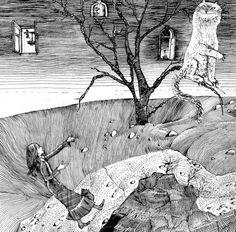 Carroll L. Alice's Adventures in Wonderland  fairy tale told by Boris Zakhoder  Illustrations G.Kalinovskogo  Edition 3 (School Library for non-Russian schools)  Moscow: Children's Literature 1977