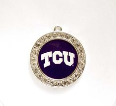 1 TCU Horned Frogs Football Pendant/Charms With Crystal Border - Officially Licensed by TreeChild1 on Etsy
