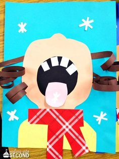 Children Catching Snowflakes (Winter Craft for Kids) - Crafty Morning