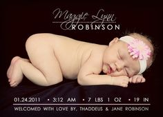 Birth Announcement/Card
