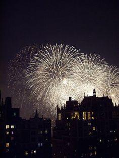 Fireworks over Tudor City, from Tudor City Confidential