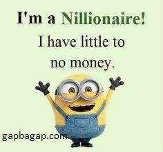 #Funny #Minion Joke About Millionaire vs Nillionaire