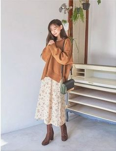 23 Lovable Long Skirt Outfits Ideas 23 - 23 Lovable Long Skirt Outfits Ideas * remajacantik Source by ideas modest Korean Street Fashion, Asian Fashion, Look Fashion, Fashion Styles, Korean Airport Fashion Women, Africa Fashion, Fashion Wear, Mode Outfits, Korean Outfits