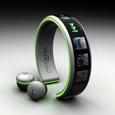 MP3 Player Creative, listen to the music from the wrist...i want it!!!!