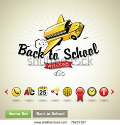 Vector Download » Back to school. Vector set - » Free Vector Graphics free download and share your vector