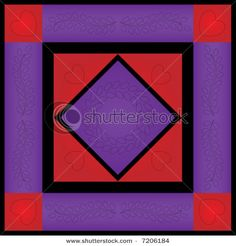 Amish Quilts, Purple And Black, Red Black, Art Clipart, Paint Shop, Textile Patterns, Pattern Wallpaper, Color Blocking, Favorite Color