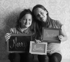 christmas photo props chalkboard signs rustic distressed chalkboards