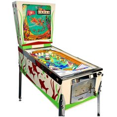 Gottlieb Atlantis, Vintage Pinball Machine High-End Restored For Sale Cool Furniture, Modern Furniture, Pinball Wizard, Arcade Games, Pinball Games, Vintage Games, Game Room, Restoration, Atlantis