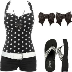 dotty by karlibugg on Polyvore featuring Forever 21, Grazie, Betsey Johnson and Wet Seal