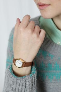 leather watch :) finns pa american apperal