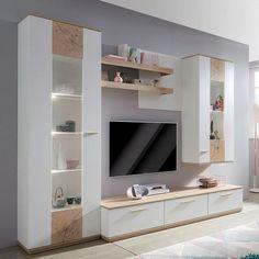 Muebles para tv modernos habitacion | Bigricho Modern Tv Room, Modern Tv Wall Units, Home Living Room, Living Room Decor, Tv Unit Furniture Design, Tv Unit Decor, Living Room Partition, Living Room Tv Unit Designs, Living Room Cabinets