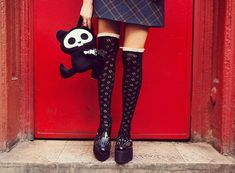 over the #knee #Socks Celebrities Who Look Hotter in #KneeSocks #outfits and ways to wear knee socks