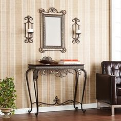 Shop for Harper Blvd Bransten Console/ Mirror/ Sconce Entryway 4-piece Set. Get free shipping at Overstock.com - Your Online Furniture Outlet Store! Get 5% in rewards with Club O!