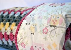 Hey, I found this really awesome Etsy listing at https://www.etsy.com/listing/164131265/pink-and-grey-owl-crochet-baby-blanket