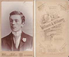 """Williams & Williams Studios"" Many locations. A photography studio chain? John Doe, Family Album, Bristol, Studios, Selfie, Chain, Portrait, Photography, Necklaces"