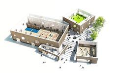 New School in Helsingør Gymnasium Architecture, Lan Architecture, Concept Models Architecture, Architecture Sketchbook, Architecture Wallpaper, Landscape Architecture Design, School Architecture, Helsingor, Green School