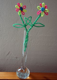 Blumen aus Wikki Stix basteln