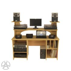 The is a very versatile desk that can be used in many ways the top monitor bridge is big enough for 1210 s keyboard pianos mixers CDJ s LCD s Dj Table, Table Desk, Desk Speaker Stands, Home Studio Desk, Uk Area, Dj Setup, Keyboard Piano, Door Hinges, Office Decor