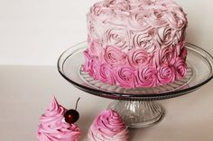 Ombre Rosette Cake 6x4 faux frosting picture by TheFakeCupCakery, $58.00