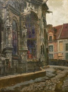 Apse of the church of St. Jacques, Dieppe, Fritz Thaulow. Norwegian (1847 - 1906)
