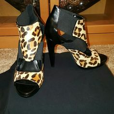 Very sexy heels! NWT/BOX sz. 6 Calvin Klein, Sonia calf hair, Leopard Calvin Klein Shoes Heels