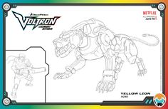 Voltron: Legendary Defender is an animated mecha web television series produced by American companies DreamWorks Animation Television Lion Coloring Pages, Cartoon Coloring Pages, Free Printable Coloring Pages, Coloring Books, Free Printables, Voltron Black Lion, Voltron Force, Japanese Anime Series, Form Voltron
