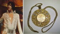 Another beautiful pendant worn about Elvis' neck.