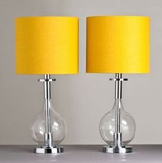 Picking out the perfect lamp for your home can be hard since there is such a huge selection of lamps to choose from. Discover the most suitable living room lamp, bedroom lamp, desk lamp or any other type for your particular place. Living Room Yellow Accents, Living Room Colors, Bedroom Colors, Bedroom Yellow, Living Rooms, Bedroom Ideas, Yellow Room Decor, Apartment Bedroom Decor, Bedroom Lamps