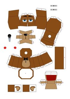 five nights at freddy's 2 toyfreddy papercraft pt1 by Adogopaper on DeviantArt