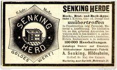 Original-Werbung/ Anzeige 1897 - SENKING - HERD - HILDESHEIM - ca. 90 x 50 mm