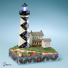 Ceramic Lefton Figurine Cape Hatteras Lighthouse North