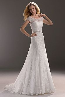 Hottest Style A Line Sweetheart Lace 2 Pieces Wedding Dress