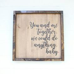 Approx 12x12 this Dave Matthews Band Quote comes framed and ready to hang! All hanging hardware is included. Please note that with all wood products some warping, cracking, and varying qualities in the woods will all be different to each sign and make each on unique! Thank you for