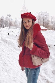 Kristina Krayt, Beautiful People, Most Beautiful, Winter Hats, Winter Jackets, Beret, Winter Fashion, Romantic, Hot