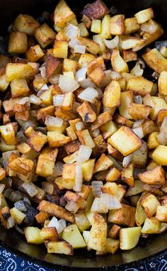 Duck Fat Home Fries- diced Yukon gold potatoes pan-fried in duck fat. Duck Recipes, Side Dish Recipes, Potato Recipes, Veggie Recipes, Cooking Recipes, Fried Breakfast Potatoes, Fried Potatoes, Southern Kitchens, Southern Dishes