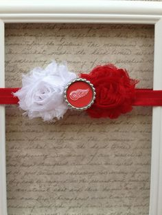 Detroit Red Wings Hockey Style Headband  by MyLilSweetieBoutique, $9.95