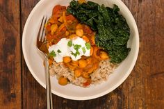 Tomato Chickpea Curry with Kale - similar to an old recipe I've used, but just as good, and healthier
