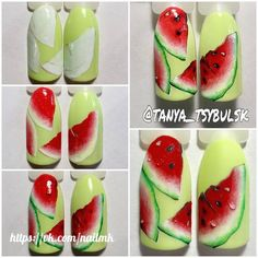 Маникюр пошагово Fruit Nail Designs, Simple Nail Designs, Nail Art Designs, Nail Art Fruit, Bright Red Nails, Queen Nails, Sweater Nails, Types Of Nails, Powder Nails