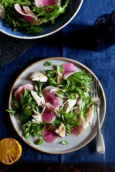 Trout Salad with Watermelon Radishes
