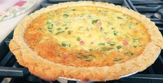 Asparagus, Ham & Cheese Quiche | Monica Potter Home Ham Quiche, Ham And Cheese Quiche, Quick Recipes, Egg Recipes, Cooking Recipes, Brunch Dishes, Sweet And Salty, Asparagus, Breakfast Recipes
