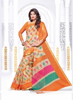 Capture the exuberance of womanhood in its full glory that will bring out your fragility and femininity. Add grace and charm to your appearance in this beautiful multi colour silk casual saree. Look r...
