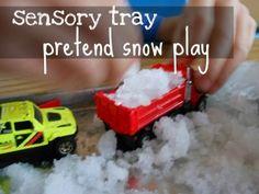 WEATHER sensory tray… pretend snow