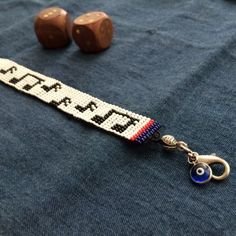 Nota Desenli Boncuk Bileklik Fabric Jewelry, Beaded Jewelry, Handmade Jewelry, Bead Loom Bracelets, Bracelets For Men, Bead Loom Patterns, Beading Tutorials, Loom Beading, Bead Art