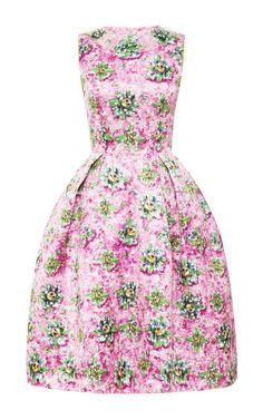 Embellished Satin-Twill Printed Dress by Mary Katrantzou